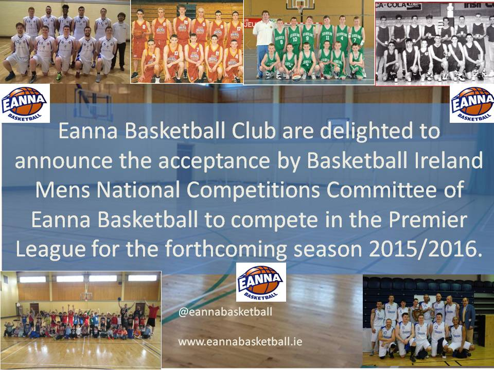 Eanna Enter Premier League for 2015/2016 Season